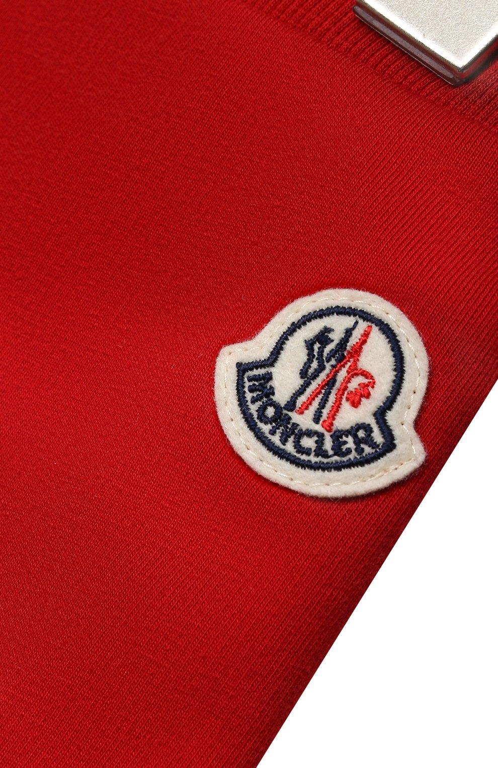 Детский комплект из толстовки и брюк MONCLER красного цвета, арт. G1-951-8M741-20-809AC   Фото 7