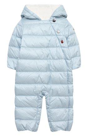 Детский пуховый комбинезон MONCLER голубого цвета, арт. G1-951-1G516-00-53048/3-12M | Фото 1
