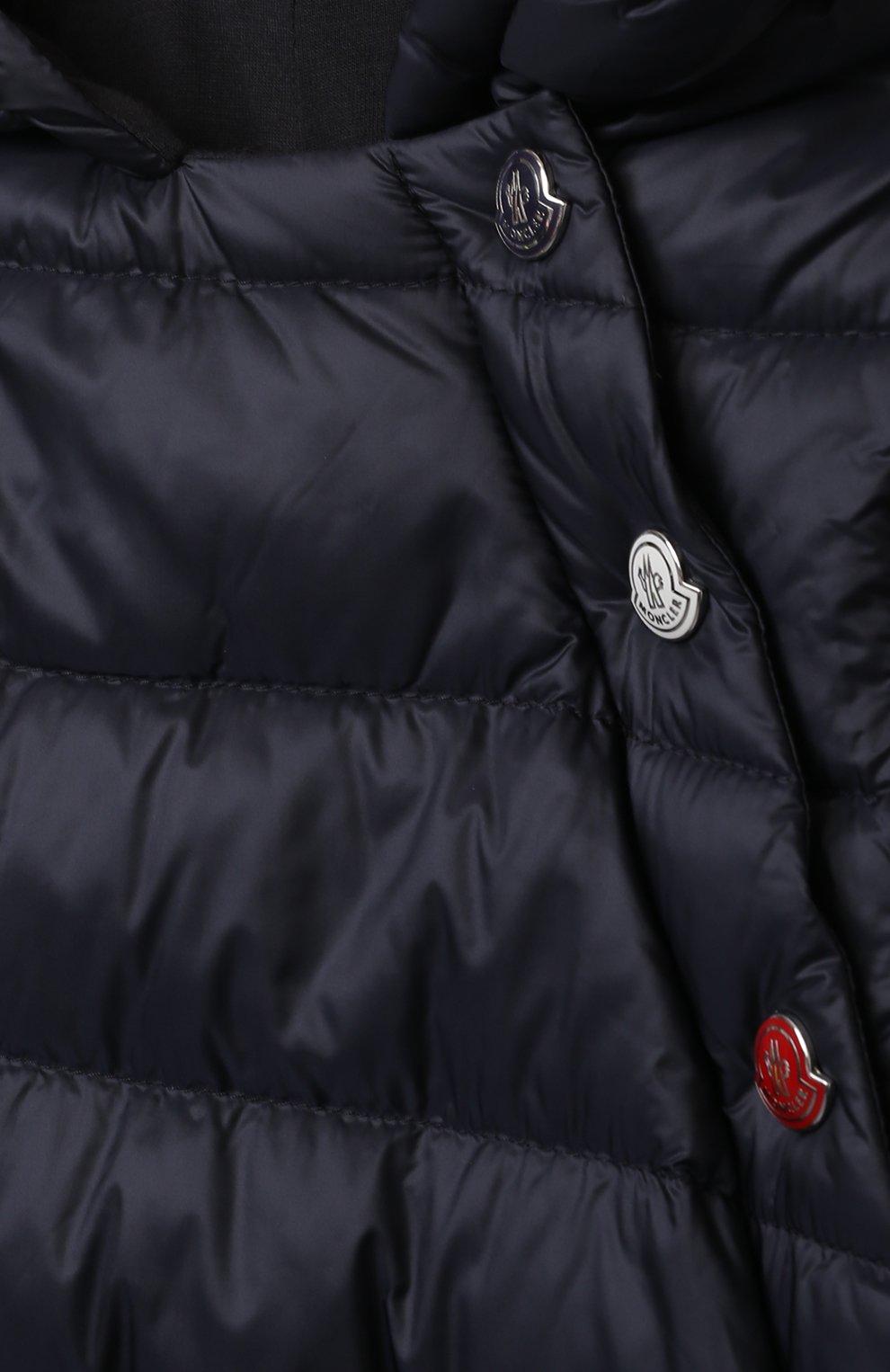 Детский пуховый комбинезон MONCLER темно-синего цвета, арт. G1-951-1G516-00-53048 | Фото 3