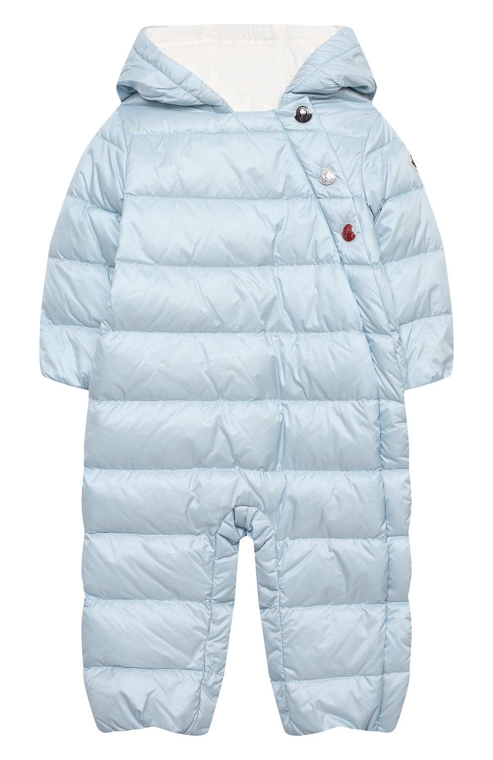 Детский пуховый комбинезон MONCLER голубого цвета, арт. G1-951-1G516-00-53048 | Фото 1