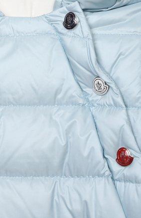 Детский пуховый комбинезон MONCLER голубого цвета, арт. G1-951-1G516-00-53048 | Фото 3
