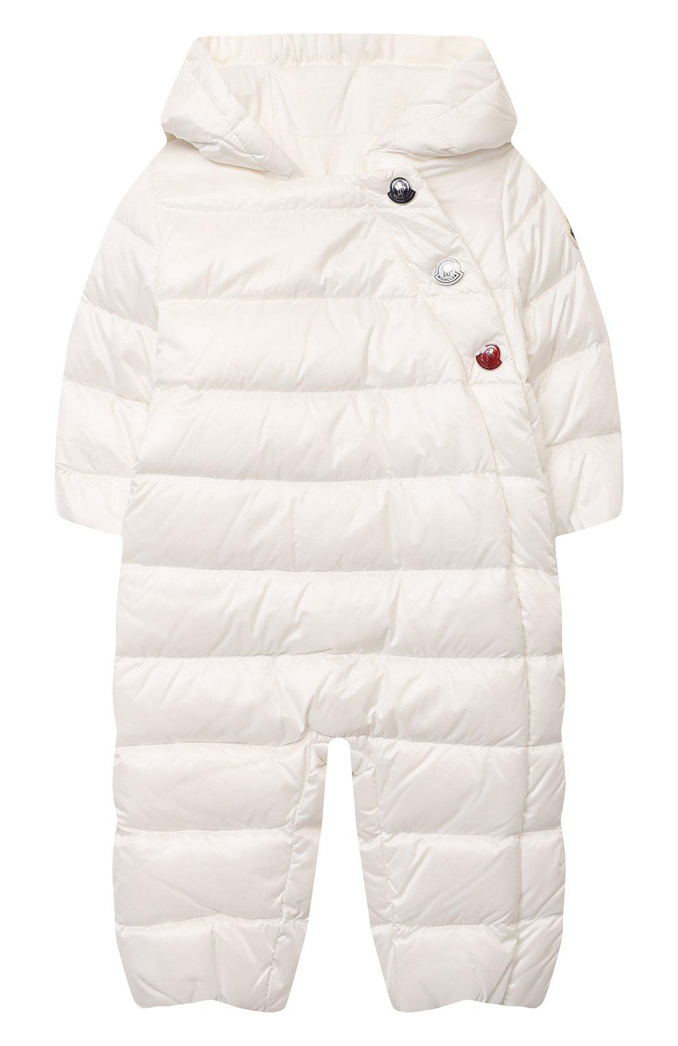 Детский пуховый комбинезон MONCLER белого цвета, арт. G1-951-1G516-00-53048 | Фото 1