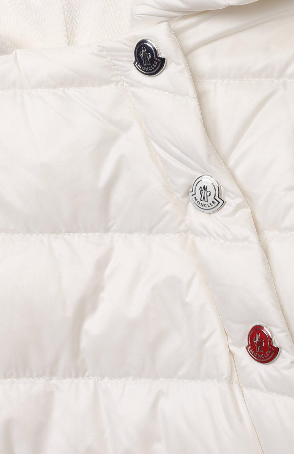 Детский пуховый комбинезон MONCLER белого цвета, арт. G1-951-1G516-00-53048 | Фото 3
