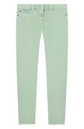 Детские джинсы STELLA MCCARTNEY салатового цвета, арт. 602749/SQKA7 | Фото 1