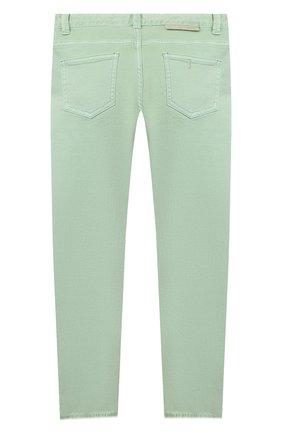 Детские джинсы STELLA MCCARTNEY салатового цвета, арт. 602749/SQKA7 | Фото 2
