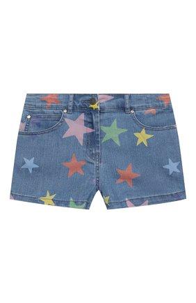 Детские джинсовые шорты STELLA MCCARTNEY синего цвета, арт. 602725/SQKB7 | Фото 1