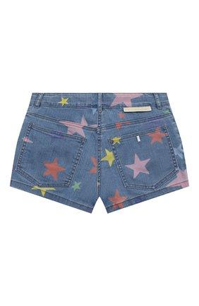 Детские джинсовые шорты STELLA MCCARTNEY синего цвета, арт. 602725/SQKB7 | Фото 2