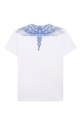 Детская хлопковая футболка MARCELO BURLON KIDS OF MILAN белого цвета, арт. 21E/B/MB/1100/0010/2-6Y   Фото 2