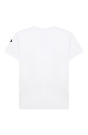 Детская хлопковая футболка MARCELO BURLON KIDS OF MILAN белого цвета, арт. 21E/B/MB/1102/0010/2-6Y   Фото 2