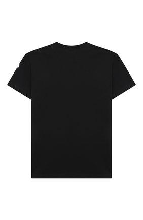 Детская хлопковая футболка MARCELO BURLON KIDS OF MILAN черного цвета, арт. 21E/B/MB/1102/0010/2-6Y   Фото 2