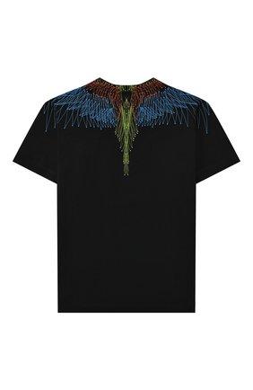 Детская хлопковая футболка MARCELO BURLON KIDS OF MILAN черного цвета, арт. 21E/B/MB/1107/0010/2-6Y   Фото 2