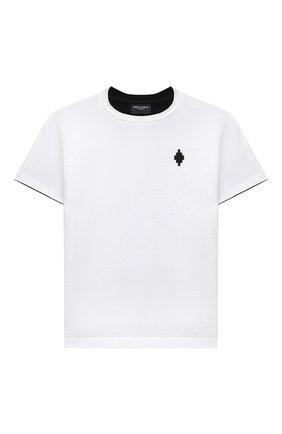 Детская хлопковая футболка MARCELO BURLON KIDS OF MILAN белого цвета, арт. 21E/B/MB/1119/0010/2-6Y   Фото 1
