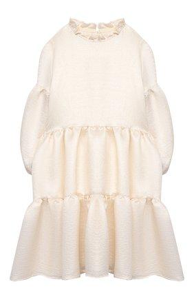 Детское платье из вискозы DOUUOD белого цвета, арт. 21E/U/JR/AB04/2710/10A-14A | Фото 1