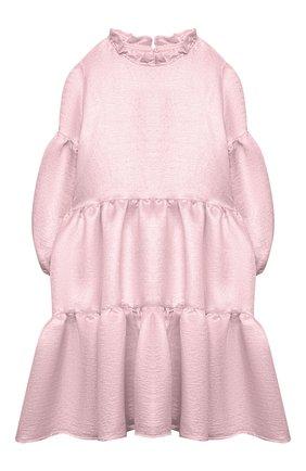 Детское платье из вискозы DOUUOD розового цвета, арт. 21E/U/JR/AB04/2710/10A-14A | Фото 1
