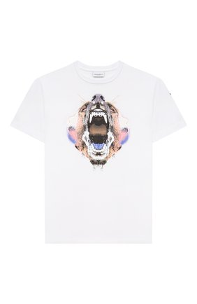 Детская хлопковая футболка MARCELO BURLON KIDS OF MILAN белого цвета, арт. 21E/B/MB/1110/0010/8-14Y   Фото 1
