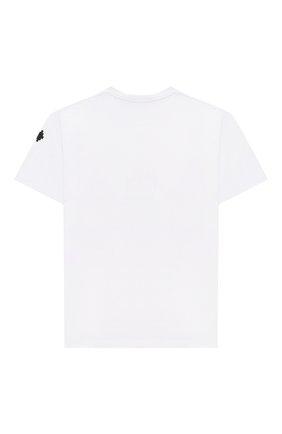 Детская хлопковая футболка MARCELO BURLON KIDS OF MILAN белого цвета, арт. 21E/B/MB/1110/0010/8-14Y   Фото 2