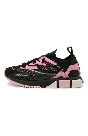 Детские кроссовки DOLCE & GABBANA розового цвета, арт. DA0952/AW478/24-28   Фото 2