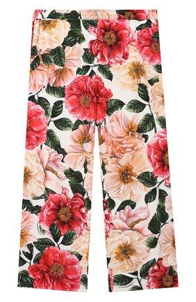 Детские брюки из вискозы DOLCE & GABBANA разноцветного цвета, арт. L52P85/FSRMW/8-14 | Фото 1