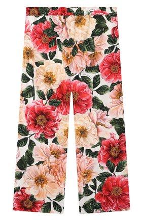 Детские брюки из вискозы DOLCE & GABBANA разноцветного цвета, арт. L52P85/FSRMW/8-14 | Фото 2
