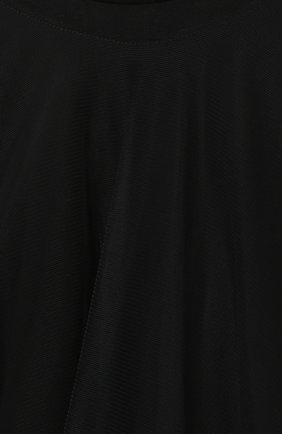 Детское платье SCRAMBLED_EGO черного цвета, арт. 12066J   Фото 3 (Рукава: Короткие; Случай: Повседневный; Материал внешний: Синтетический материал; Девочки Кросс-КТ: Платье-одежда; Материал подклада: Хлопок)