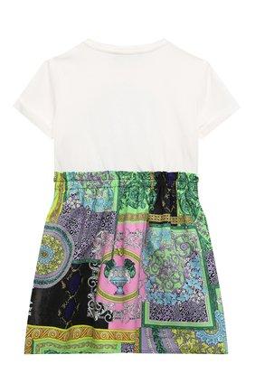 Детское хлопковое платье VERSACE разноцветного цвета, арт. 1000327/1A00337/4A-6A | Фото 2