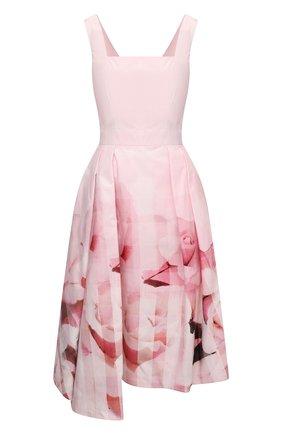 Женское хлопковое платье ALEXANDER MCQUEEN розового цвета, арт. 651670/QCACB | Фото 1
