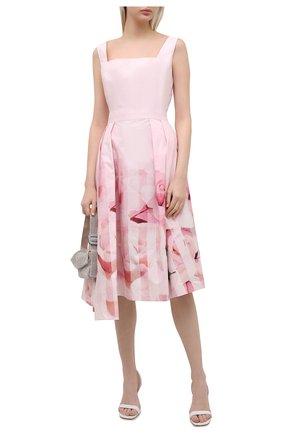 Женское хлопковое платье ALEXANDER MCQUEEN розового цвета, арт. 651670/QCACB | Фото 2