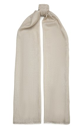 Женский шарф из смеси кашемира и шелка BRUNELLO CUCINELLI серого цвета, арт. MSCDAR097 | Фото 1