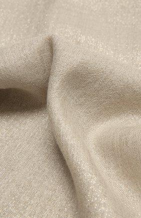 Женский шарф из смеси кашемира и шелка BRUNELLO CUCINELLI серого цвета, арт. MSCDAR097 | Фото 2