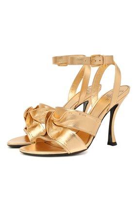 Женские кожаные босоножки atelier VALENTINO золотого цвета, арт. VW2S0BH0/SUJ   Фото 1
