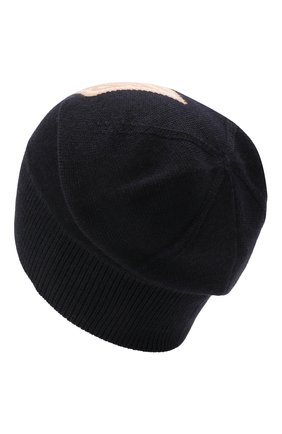 Женская шерстяная шапка CHLOÉ темно-синего цвета, арт. CHC21SD010WCA | Фото 2 (Материал: Шерсть)
