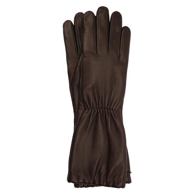 Кожаные перчатки Bottega Veneta