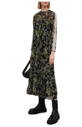 Женское платье REDVALENTINO черного цвета, арт. VR3VAY50/5LR | Фото 2