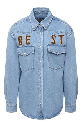 Женская джинсовая рубашка FORTE DEI MARMI COUTURE синего цвета, арт. 21SF9150 | Фото 1
