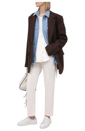 Женская джинсовая рубашка FORTE DEI MARMI COUTURE синего цвета, арт. 21SF9150 | Фото 2