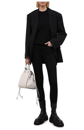 Женские джинсы ACNE STUDIOS черного цвета, арт. A00203 | Фото 2