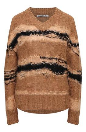 Женский свитер ACNE STUDIOS коричневого цвета, арт. A60242   Фото 1