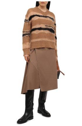 Женский свитер ACNE STUDIOS коричневого цвета, арт. A60242   Фото 2