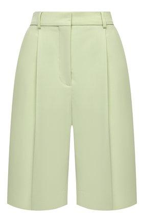 Женские шерстяные шорты ACNE STUDIOS зеленого цвета, арт. AE0038 | Фото 1