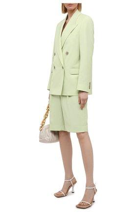 Женские шерстяные шорты ACNE STUDIOS зеленого цвета, арт. AE0038 | Фото 2