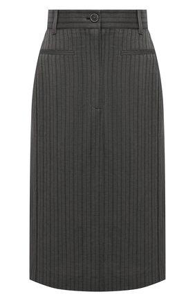 Женская юбка из льна и вискозы ACNE STUDIOS серого цвета, арт. AF0179   Фото 1