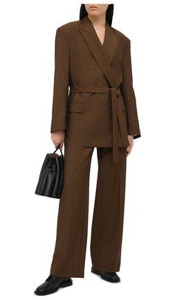 Женский шерстяной жакет ACNE STUDIOS коричневого цвета, арт. AH0108   Фото 2
