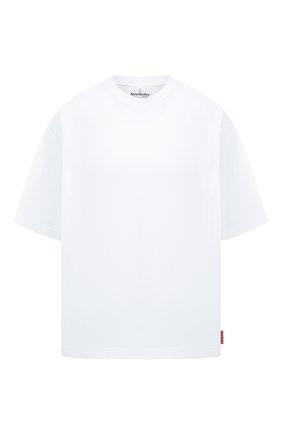 Женская хлопковая футболка ACNE STUDIOS белого цвета, арт. AL0195   Фото 1