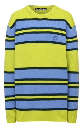 Женский шерстяной пуловер ACNE STUDIOS зеленого цвета, арт. C60027/W   Фото 1