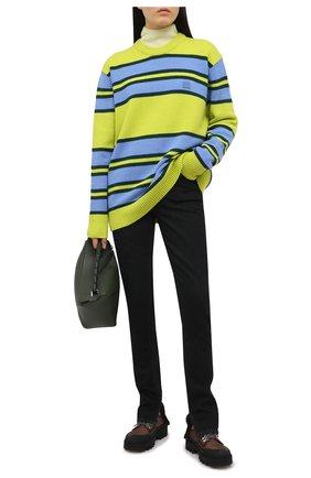 Женский шерстяной пуловер ACNE STUDIOS зеленого цвета, арт. C60027/W   Фото 2