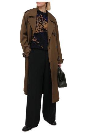 Женский пуловер SAINT LAURENT разноцветного цвета, арт. 646779/YAXD2   Фото 2 (Длина (для топов): Стандартные; Материал внешний: Синтетический материал; Женское Кросс-КТ: Пуловер-одежда; Стили: Кэжуэл; Рукава: Длинные)