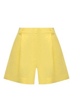 Женские шорты из льна и хлопка A MERE CO желтого цвета, арт. AMC-RSS21-42Y   Фото 1