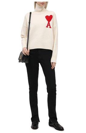 Женский шерстяной свитер AMI бежевого цвета, арт. H20FK203.018 | Фото 2