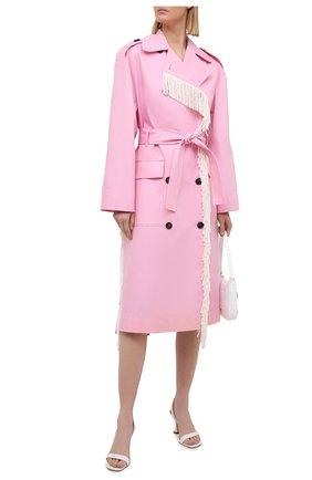 Женский хлопковый тренч MSGM светло-розового цвета, арт. 3041MDC04Y 217105 | Фото 2