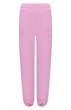 Женские хлопковые джоггеры MSGM светло-розового цвета, арт. 3041MDP61 217299 | Фото 1